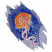C1: Background---Light Midnight(Isacord 40 #1197)C2: Background Shading---Blue(Isacord 40 #1076)C3: Background Light Shading---Nordic Blue(Isacord 40 #1076)C4: Jellyfish Underside---Spanish Tile(Isacord 40 #1020)C5:
